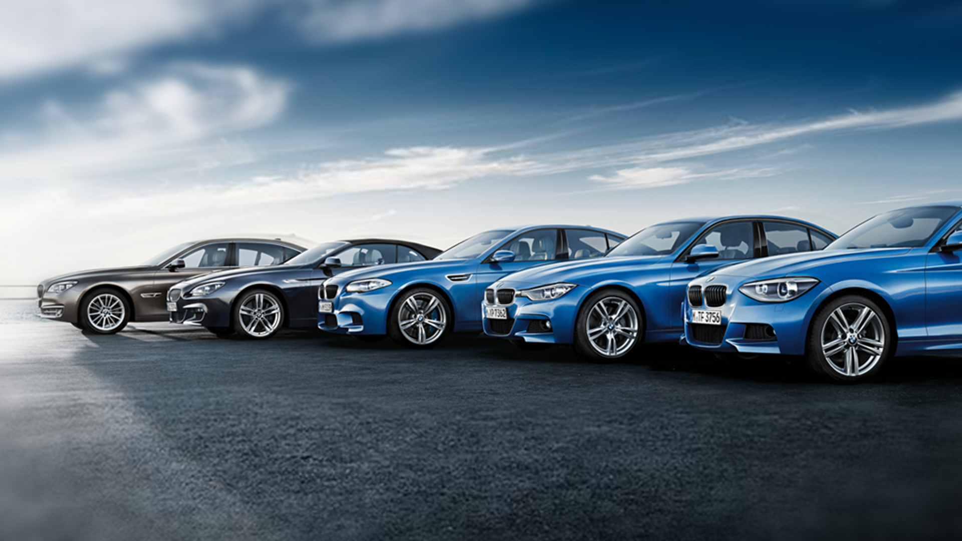 a business fleet of BMW lease cars